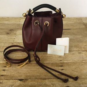 Chloe Gala Bucket Small Burgundy Cross Body Bag 🔥